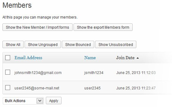 e-newsletter-manage-members